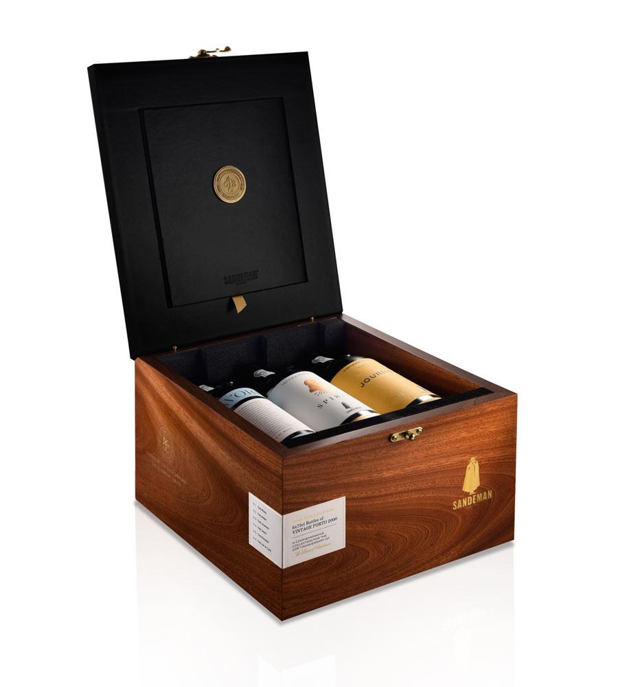 Vinho do Porto Sandeman Collector's Box Ed. 225 Anos Vintage (pack 6) 2000 75cl Porto