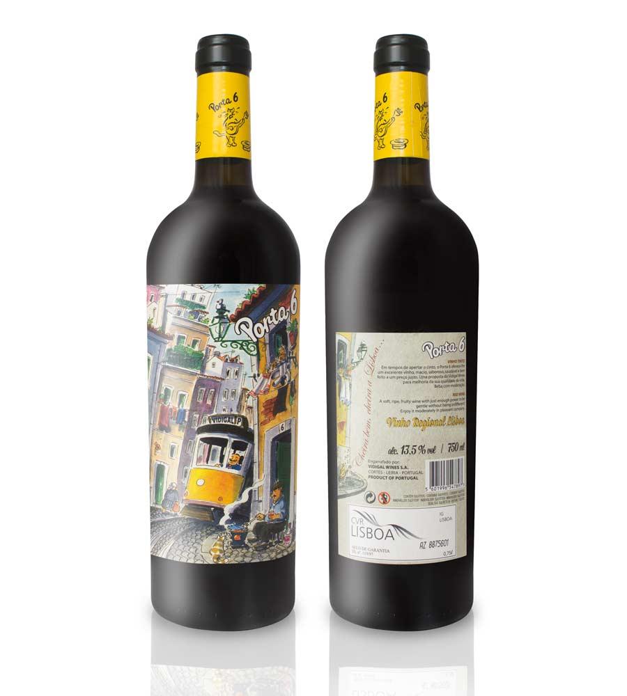 Vinho Tinto Porta 6 2018, 75cl Regional Lisboa