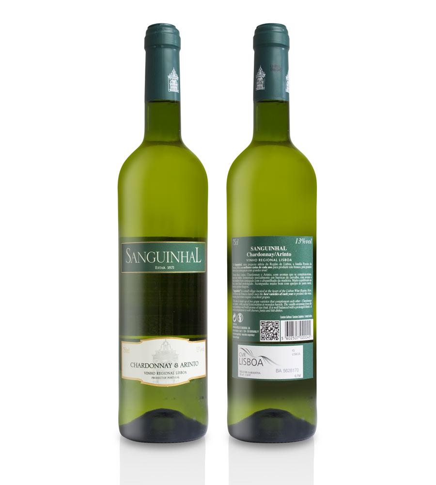 Vinho Branco Sanguinhal Chardonnay & Arinto 2016, 75cl Lisboa