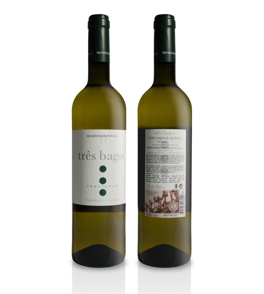 Vinho Branco Três Bagos Sauvignon Blanc 2018, 75cl Douro