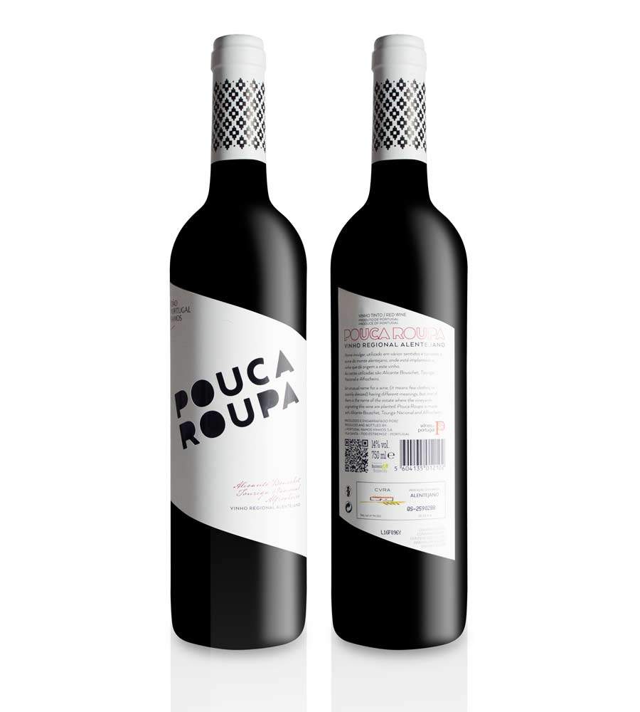 Vinho Tinto Pouca Roupa 2017, 75cl Alentejo