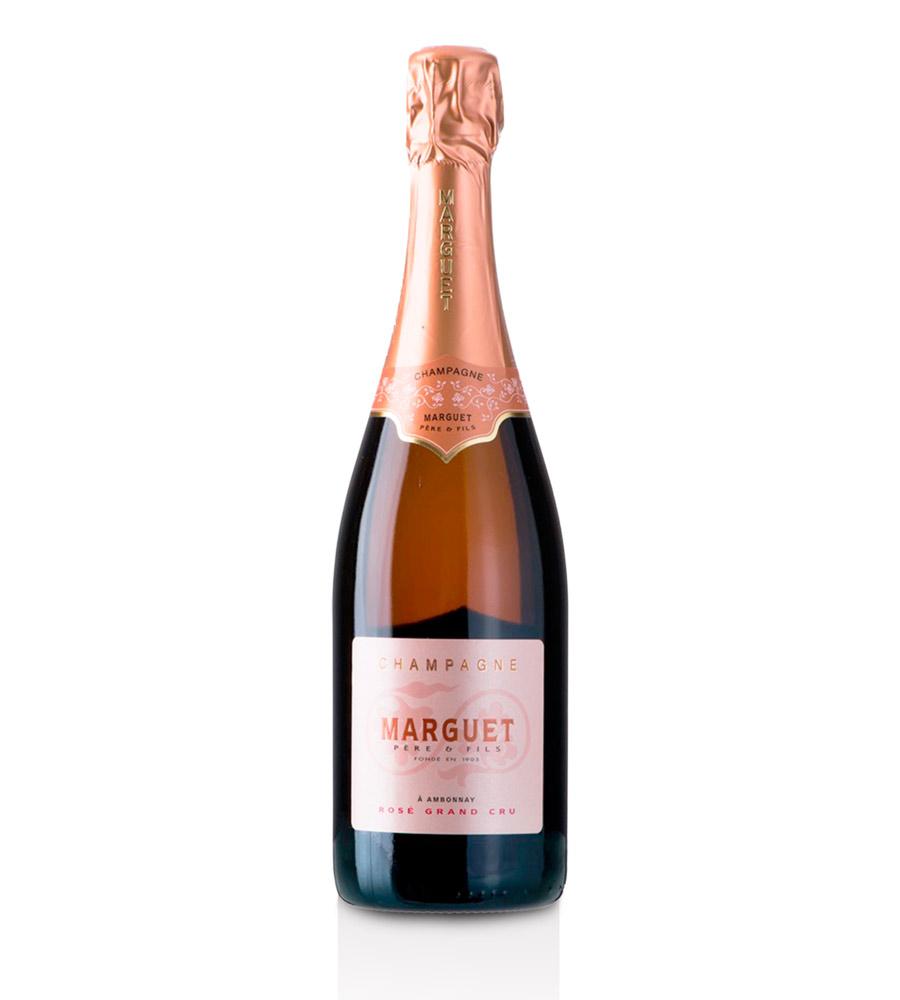 Champagne Marguet Brut Rosé Grand Cru, 75cl Champagne