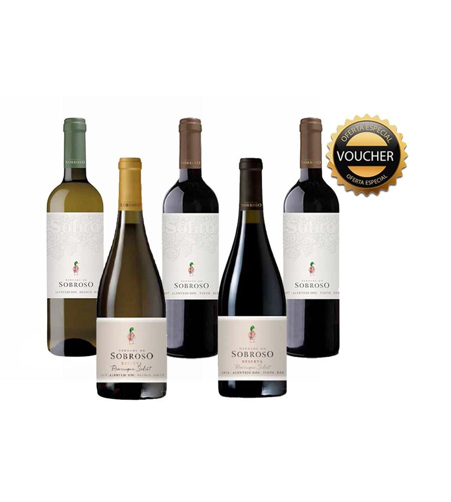 Conjunto Herdade do Sobroso Pack Blend 5 = Voucher Wine Tour, 70cl Alentejo