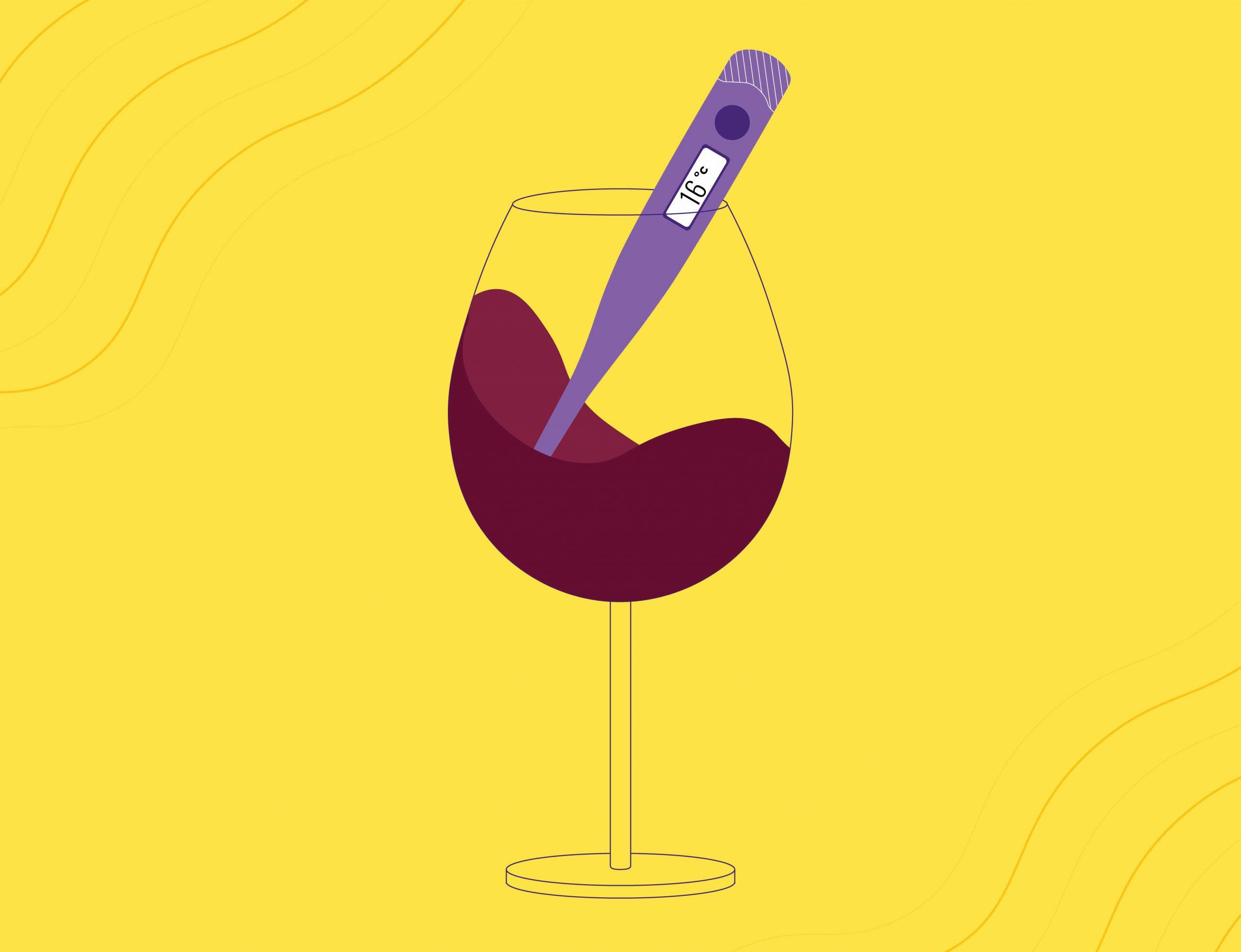 Qual a temperatura para beber um vinho tinto?