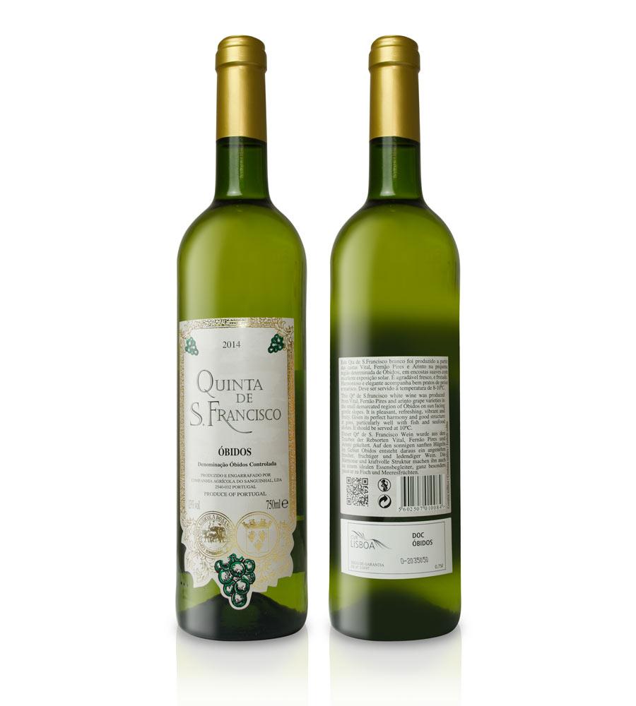 Vinho Branco Quinta de S. Francisco 2015 75cl DOC Óbidos