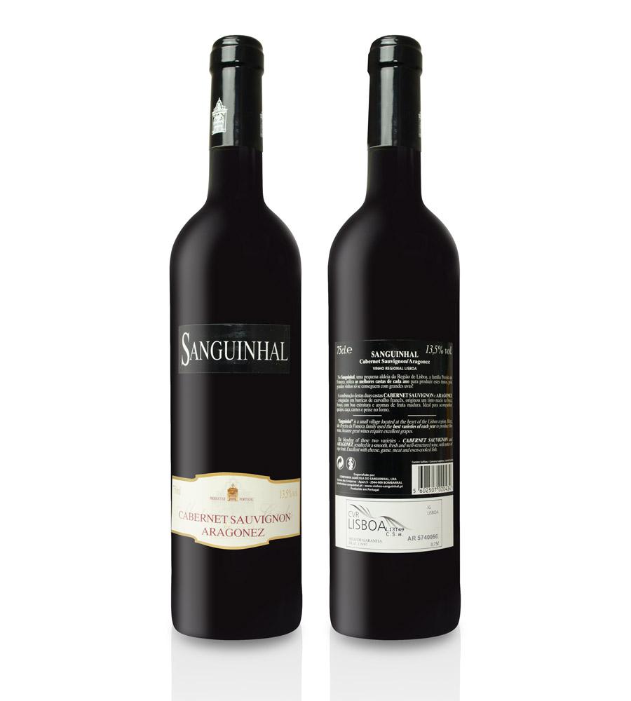 Vinho Tinto Sanguinhal Cabernet Sauvignon Aragonez 2010 75cl Lisboa