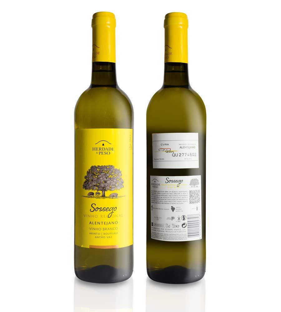 Vinho Branco Herdade do Peso Sossego 2020, 75cl Alentejo